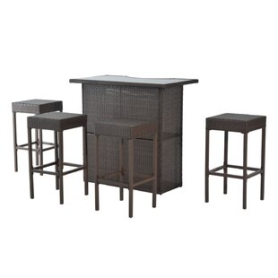 Barns 5 Piece Outdoor Rattan Bar Height Dining Set