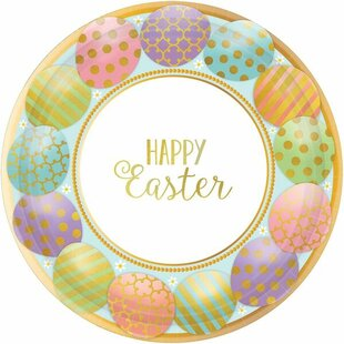 Golden Easter 7\  Appetizer Plate (Set of 16)  sc 1 st  Wayfair & Easter Paper Plates   Wayfair