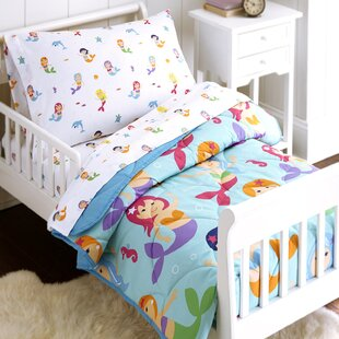 mermaids 4 piece toddler bedding set - Toddler Bed Sets