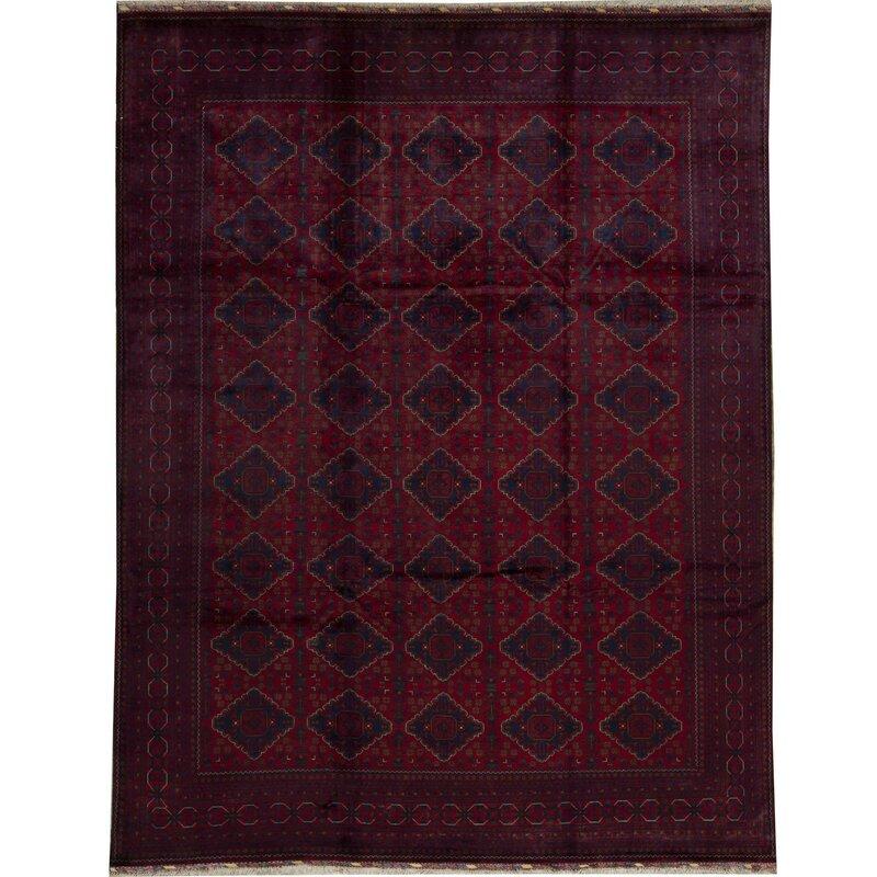 Bokara Rug Co Inc Geometric Hand Knotted Wool Red Area Rug Wayfair