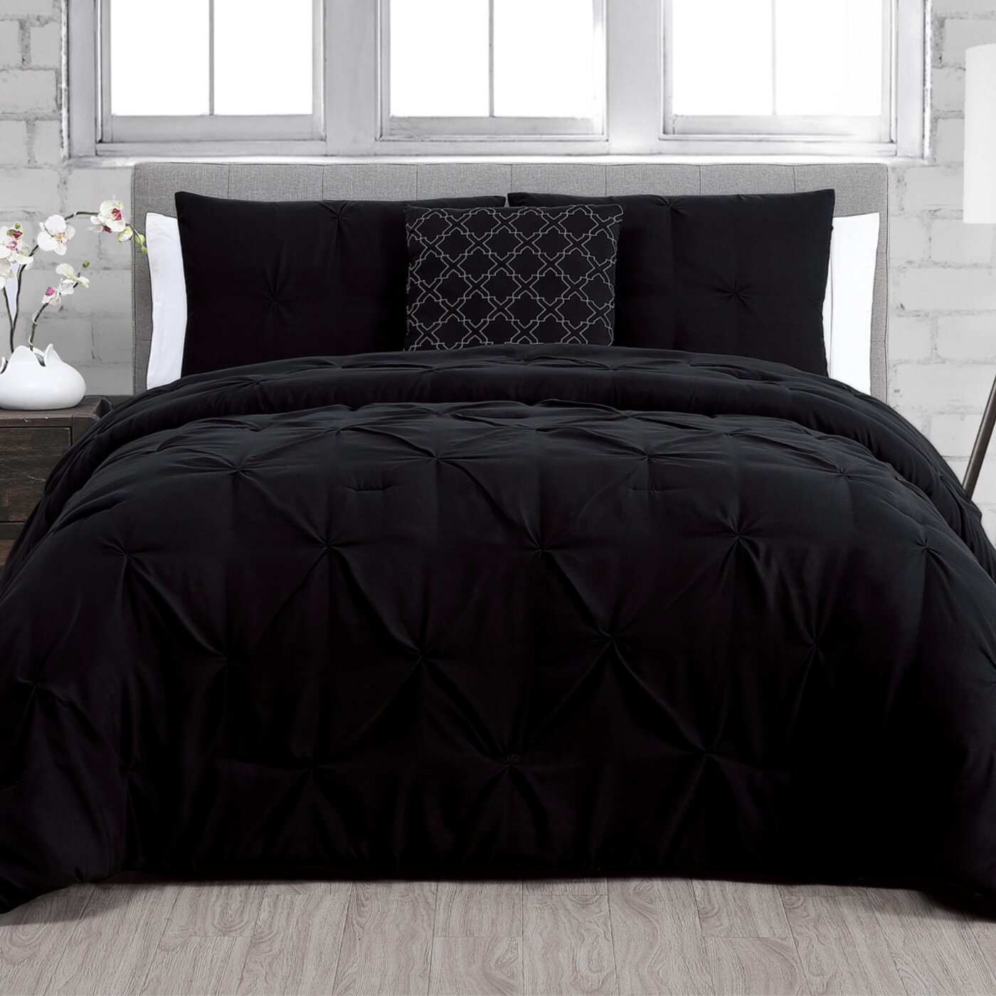 Charlton Home Mikami 4 Piece Comforter Set Reviews Wayfair
