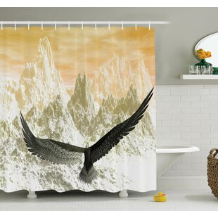 Carylon Eagle Flying Mountains Shower Curtain Set