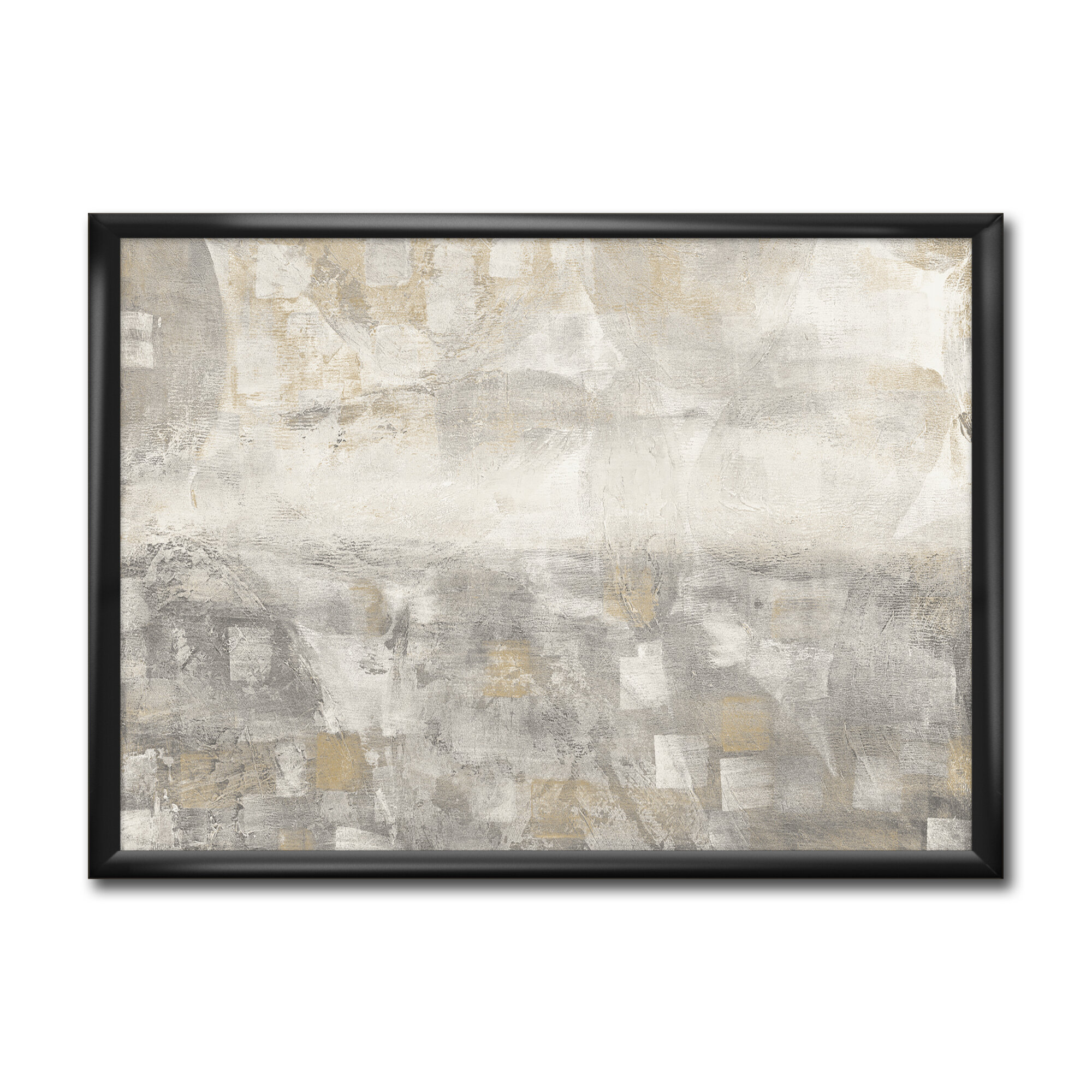 East Urban Home Gray Abstract Watercolor Picture Frame Print On Canvas Wayfair