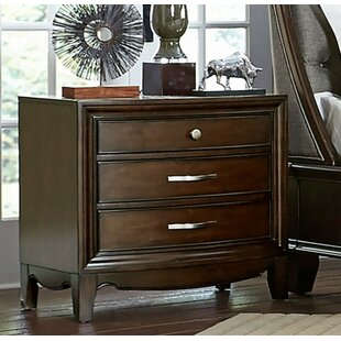 Affordable Fearon Wooden 3 Drawer Nightstand by Darby Home Co