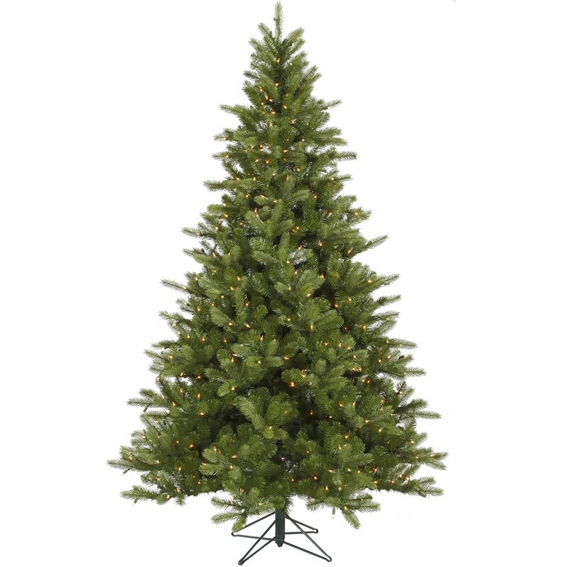 King 6 5 Green Spruce Artificial Christmas Tree With 350 Dura Lit Clear Lights With Stand