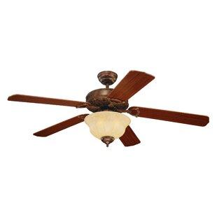 Best Price 52 Beaudet 5 Blade Ceiling Fan By Fleur De Lis Living