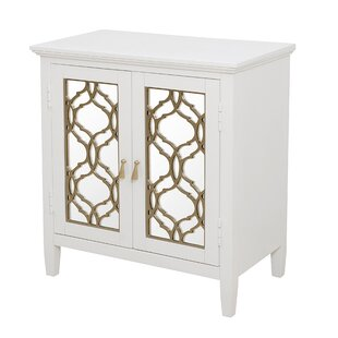 Adali Mirror Front 2 Door Accent Cabinet by Rosdorf Park