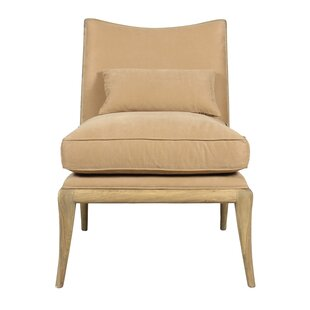 Slipper Chair with Ottoman by Sarreid Ltd