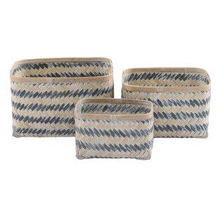 Wicker 3 Piece Basket Set By House Of Hampton