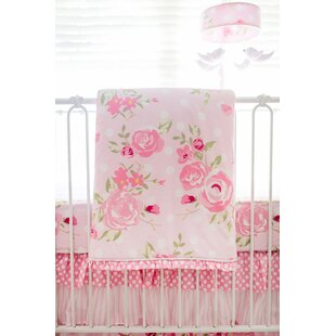 Inexpensive Sweat Rosebud 3 Piece Crib Bedding Set By Harriet Bee