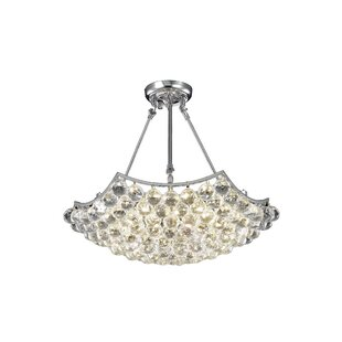 Kasha 6-Light Crystal Chandelier by Willa..
