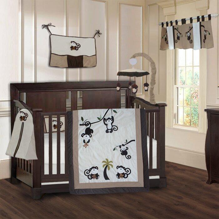 Oman Monkey Baby 9 Piece Crib Bedding Set