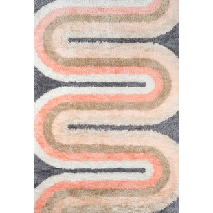 Retro Wave Hand-Tufted Pastel Area Rug