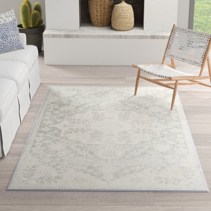 Montana Vintage Charcoal Light Gray Area Rug