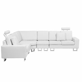 Valetta Leather Reversible Modular Sectional