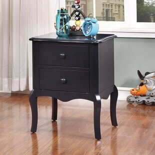 Floressa Rattling Spacious 2 Drawer Nightstand by Astoria Grand