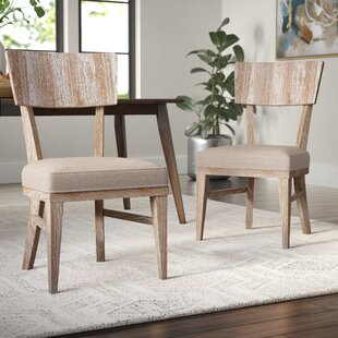Belmar Upholstered Dining Chair (Set of 2) Brayden Studio