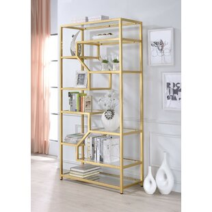 Gatlin Metal Glass Etagere Bookcase