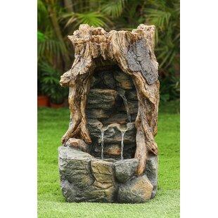 Jeco Inc. Resin Broken Wood Log Fountain