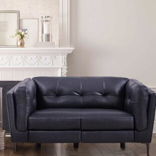 Goodner Leather Reclining Loveseat