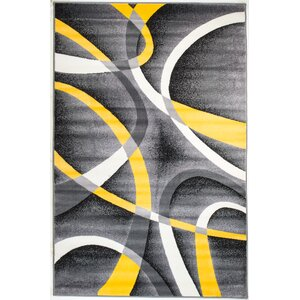 Rick Gray/Yellow Indoor Area Rug