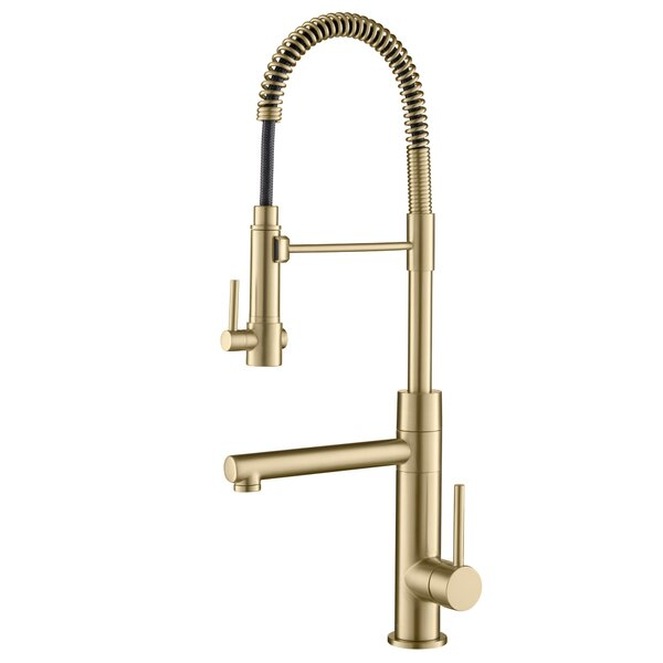 Modern Contemporary Brushed Gold Kitchen Faucet Allmodern