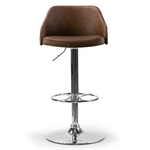 Buker Adjustable Height Swivel Bar Stool ..
