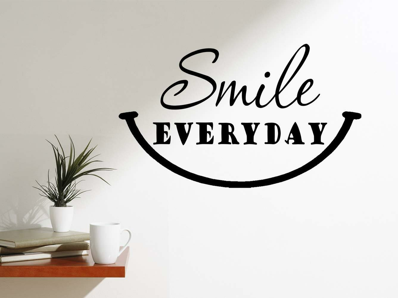 winston porter smile everyday happy quotes motivating wall decal