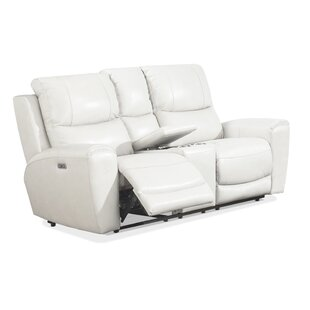 Palmateer Leather Reclining Loveseat by Red Barrel Studio