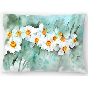 Narcissus in Line Lumbar Pillow