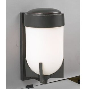 Winston Porter Hallsburg 1-Light Outdoor Flush Mount