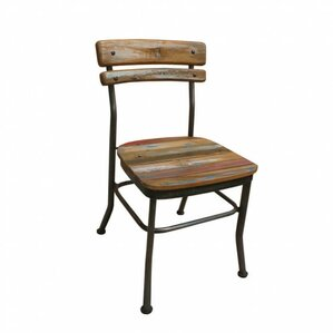 Reclaimed Teak Boat Wood Side Chair by VivaTerra