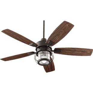 Check Prices 52 Glazer 5 Blade Ceiling Fan By Breakwater Bay