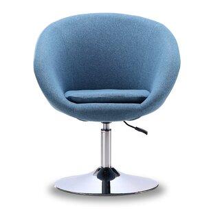 Wade Logan Levitt Swivel Barrel Chair