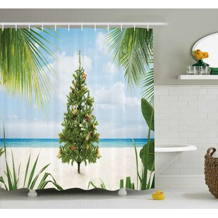 Christmas Holiday Party Tree Single Shower Curtain