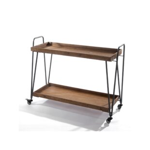 Theodis Wooden Bar Cart by Foundry Select