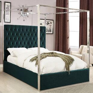 Pamala Upholstered Canopy Bed ..