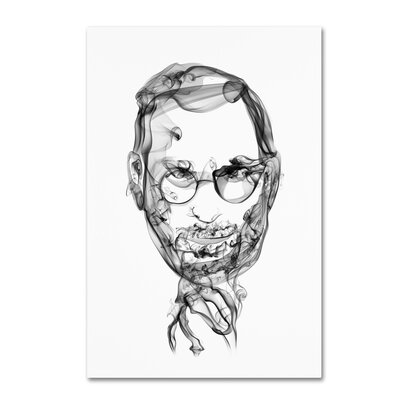 "Trademark Art 'Steve Jobs' Graphic Art Print on Wrapped Canvas Size: 24"" H x 16"" W"