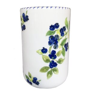 Blueberry Utensil Crock by August Grove No Copoun