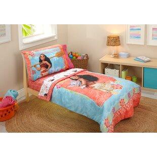 Moana 4 Piece Toddler Bedding Set