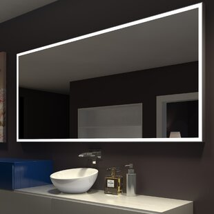 Top Reviews Kristian Illuminated Bathroom / Vanity Wall Mirror By Orren Ellis