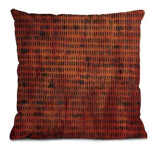 Burnt Orange Grid Scatter Cushion