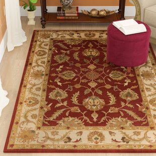 Mckelvey Hand-Tufted Wool Red/Beige Area Rug by Astoria Grand