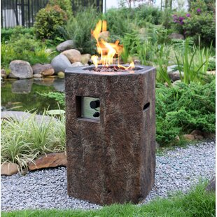 Terrell Concrete Propane Fire Column By Sol 72 Outdoor
