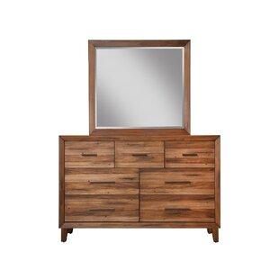 Mistana Tarin 7 Drawer Dresser with Mirror