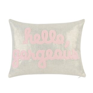 Lovely Hello Gorgeous Pillow | Wayfair NH41