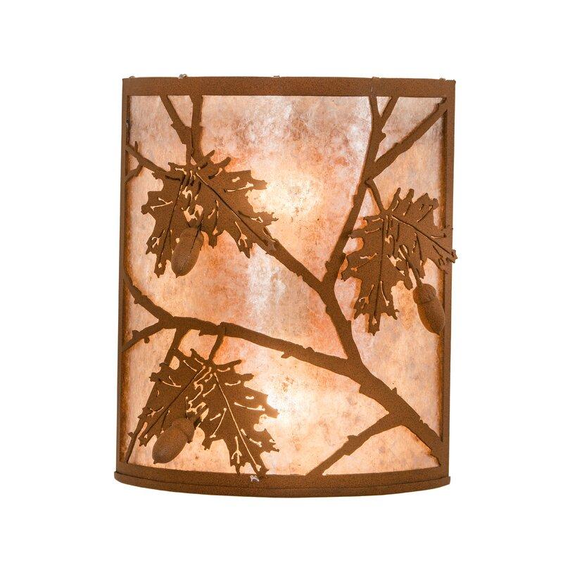 Meyda Tiffany 2 Light Oak Leaf And Acorn Wall Sconce Wayfair