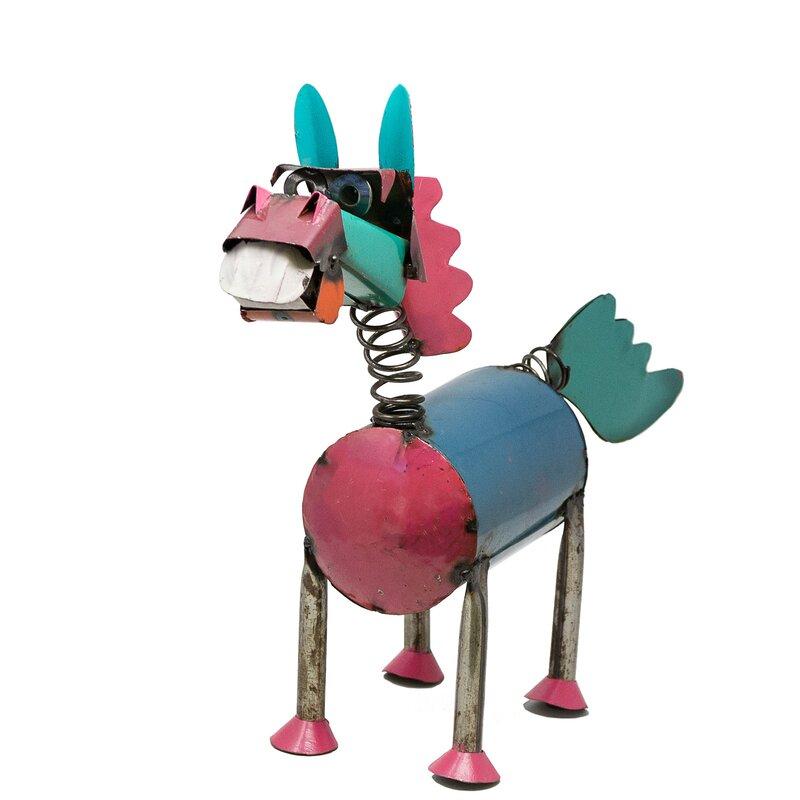 August Grove Sigel Spring Neck Horse Statue Wayfair