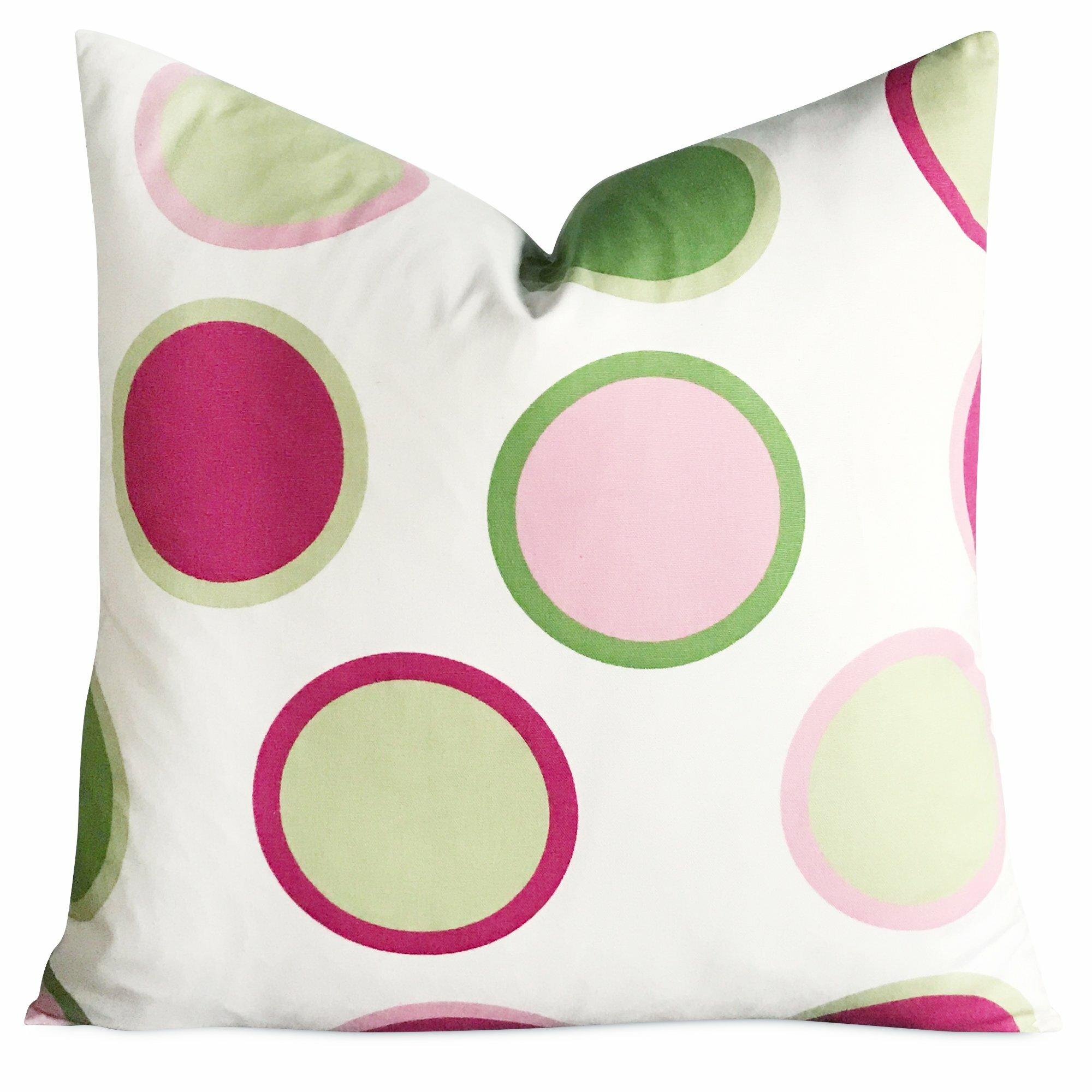 Ebern Designs East Broadway Large Polka Dot Decorative Pillow Cover Wayfair