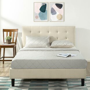 Paisley Upholstered Platform Bed by Alwyn Home
